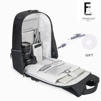 Wholesale Phone Charger Backpack - FRN New Men Backpack 15.6'' Antitheft Laptop Backpack Fashion Waterproof Business Travel Backpack School Bag with Usb Charger