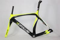 Wholesale Cheap Road Frame Bikes - 2015 black yellow glossy cheap T1000 3K UD CIPOLLINI RB1000 light race bicycle full carbon fiber road bike frame XXS XS S M L