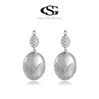 Wholesale White Chandelier Collection - 015 2015 new fashionG&S Women's White Gold Plated Earring Classic Style Top Rich CZ Hand Made Drop Earrings New Collection