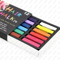 Wholesale Temporary Coloured Hair Dye - Ladies Hair Chalk Non-Toxic Temporary Womens Hair Dye Colour Pastels Salon Kit Free shipping