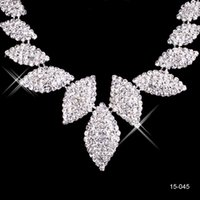 Wholesale bridal headbands for sale - Rhinestone Bridal Jewelry Sets Earrings Necklace Crystal Bridal Prom Party Pageant Girls Wedding Accessories