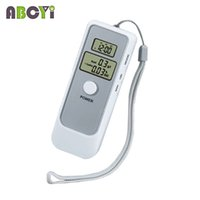 Wholesale Digital Alcohol Tester Display - Wholesale-10pcs lot Dual LCD Display Digital Alcohol Tester and Timer Analyzer Breathalyzer Detector with Clock for Alcohol Level Testing