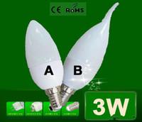 kapalı led spot ampuller toptan satış-Toptan Ücretsiz Kargo Enegery tasarrufu Cree E14 LED Mum ışığı yüksek güç 3W Led ışık LED Spot LED Ampul lamba Kapalı ışık
