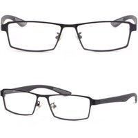 Black Light Mens Titanium Frames Plastic Arm Prescription Eye Glasses Sunglasses
