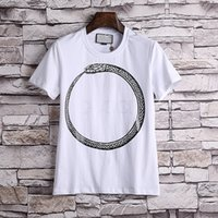 Wholesale Woman Runway Shirt - 2018 new G423 Runway Fashion Letter Design Men's Casual Cotton short sleeve T Shirts Women Slim Asian size M-3XL