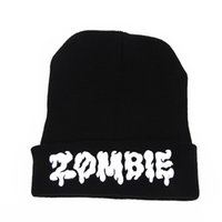 carving ski - CARVED ZOMBIE fashion Hip Hop Street Dance sport wool hat autumn winter reversible teens Knit cap soft and warm Stretch SKI cap