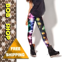 Wholesale Black Milk Jellyfish - w1209 Bob shop,LG066,new 2014 fitness JELLYFISH RAINBOW, Black Milk Leggings capris for women, wholesale and free shipping