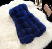 Wholesale Thick Winter Clothes - Hot Fashion Long Fox Fur Women Vests 2016 Winter High Quality Fur Long Sleeveless Women Faux Fur Coats Outwear Women Clothing Free Shipping