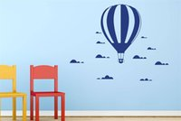 Wholesale Hot Air Balloon Wall Art - Hot Air Balloon In The Clouds Wall Stickers Decals for Kids room Decor