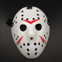 White-Red Jason Mask Halloween Party Scary Mask Cosplay Masque complet Jason vs Friday Horror Hockey Film Mask Livraison gratuite