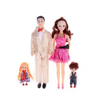 4Pcs / Set Съемные суставы Принцесса Baby Doll Boyfriend Toy Kawaii Playmate Dolls Happy Family Xmas Gifts Pack