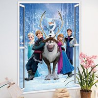 Wholesale Mural Princess - 20pcs lot Cartoon Princess Wall Sticker 50*70cm House Wallpaper Adornment qt025