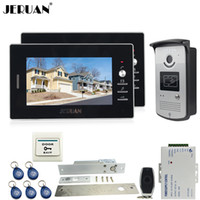 JERUAN Home Security 7`` videoportero kit de entrada de intercomunicación kit 700TVL RFID IR cámara de visión nocturna ELectric Drop Bolt lock