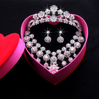 Jewelry Sets pageant ring - Wedding Jewelry Shining New Cheap Sets Rhinestone Bridal Jewelery Accessories Crystals Necklace and Earrings for Prom Pageant Party