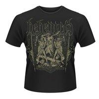 Wholesale Slave Clothing - Behemoth 'Slaves Shall Serve' T Shirt - NEW T Shirt Fashion Top Tee Sleeve T Shirt Summer Men Tee Tops Clothing