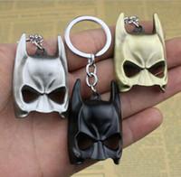 Wholesale Metal Animal Masks - Zinc Alloy Mini Batman Mask Key Chains The Dark Knight Mask Keychains For Mens Marvel Super Hero Pendant keyring key ring Holder metal