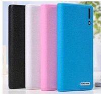 Wholesale External Battery Wallet - 20000mAh 12000mAh wallet style External Battery Pack portable emergency Charger dual USB port with LED light 18650, power bank