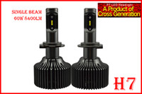1 Set H7 60W 8400LM P7 LED Auto Farol Kit Sistema Fanless ALL IN ONE Coreia do CSP LED 12 / 24V Xenon Branco 6000K Condução de alta potência lâmpadas LED