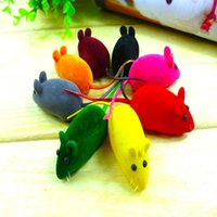 Wholesale Soft Toys Patterns Free - Free Shipping Long Tail Coating Small Soft Rubber Cat Toys Mouse Pattern Phonate Toys Pet Toys for Exercise Teeth