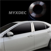 Wholesale Windows Mouldings - styling MYXDEC 6mm-30mm Car Chrome Decor Strip Sticker Silver Styling Moulding Trim Strip Auto Body Window Exterior Decoration
