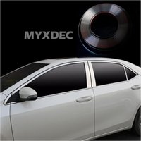 styling MYXDEC 6mm-30mm Auto Chrome Decor Strip Sticker Argento Styling modanatura Trim Strip Auto Body Window Decorazione esterna