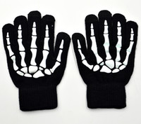 Wholesale Skeleton Touch Screen Gloves - Womens Winter Gloves High Quality Cell Phone Touch Screen Stylus Gloves Halloween Skeleton Hand Cosplay Costume Accessories