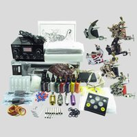 Basekey Tattoo Kit 6 Gun Machine With Power Supply Grips Spazzola per pulizia Aghi per inchiostro 605