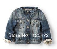 Wholesale Retail Denim Jacket Girls - Wholesale-Wholesale and retail new 2015 girl denim coat,girl denima fashion jacket,high quality denim jacket(size for3-8years)Free shiping