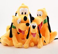 Wholesale Pluto Plush - new hot sale plush toy 40cm Pluto dog goofy Mickey Minnie Mouse Donald duck soft dolls toys for children