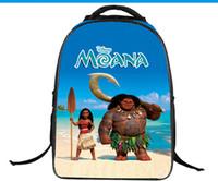 Wholesale Hot Book Design - Moana Children Girl School Backpack Book Bags Large Fashion Design Hot Sales Kids Young Men Women