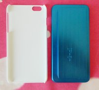Wholesale Iphone Jig - For iphone 6 plus 5.5 nch metal aluminium mold jig mould for sublimation case, blue color free shipping