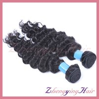 Wholesale Deep Wave Peruvian 5a - Premium 4pcs lot Peruvian Virgin Hair Deep Wave Cheap Weft 5A Unprocessed Curly Weave Human Hair For Prom African American on Sale,Ombre DIY