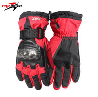 Wholesale Riding Full Finger Protective Gloves - 2015 New PRO-BIKER Waterproof protective racing gloves Motorcycle gloves in winter Warm motorcyclist riding gloves 4 colors and size M L XL