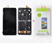 Wholesale Hk Panels - Wholesale-New original touch Screen Panel Digitizer+LCD display in Frame+Toughened Glass for Jiayu S3 cell phone Free shipping HK POST