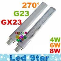 Wholesale Led Lights Cfl - G23 GX23 Led PL Light Super Bright 4W 6W 8W Led Bulbs 270 Angle Replac CFL Lights AC 85-265V