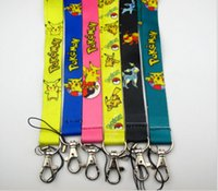 Wholesale pikachu mix - Wholesale - Pikachu mixed PHONE LANYARD KEYS ID NECK STRAPS free shipping