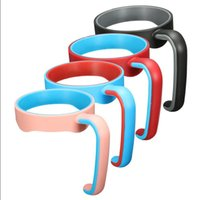 Wholesale Promotion Cup Holders - Big Promotion!! CUP HANDLES 4 Colors Portable Plastic Hand handle Holder Mugs Portable Hand Holder For Tumbler 20 oz Cups Cup handle