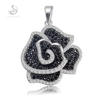 Wholesale The new product Favourite sterling silver jewelry S GYO Best Sellers Fancy White and Black CZ Cubic Zirconia Pendants