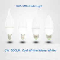 Wholesale E27 Led Dhl - DHL Fedex 2835 SMD CREE 3W 500lm Led candle Bulb E27 E14 LED chandelier led light lamp lighting SMD 2835 downlight AC220-240V