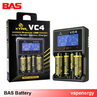 Wholesale Ecig Lcd Display Battery - Best ecig charger! new XTAR VC4 4-bay USB charger for li-ion Ni-MH Ni-Cd batteries LCD display 0.5A 1A charging current 18650battery charger