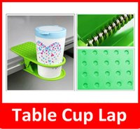 Wholesale Clip Desk Table Cup Holder - Creative Drink Cup Coffee Mug Desk Lap Folder Table Holder Clip Home Office Table Cup Lap