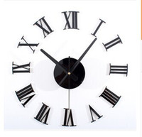 Classic black 3 d DIY Roman numerals wall clock Creative combination of the wall clock DIY clock