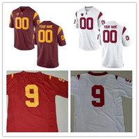 df9be83ef5a Custom men s USC Trojans College Football Jersey Limited white red  Personalized Stitched Name Number embroidery Jerseys S-3XL