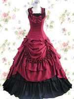Wholesale Games Sexo - 2015 Catsuit Sexy Costumes Sexo Princess Lolita Dresses Cosplay Dress Floor Length Wine Red Costume Sets Different Size Classic Design 1649