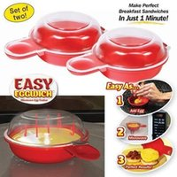 Brand New Easy Eggwich Microwave Egg Cookers Pan Set из 2 на коробку с логотипом