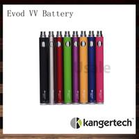 baterías ego evod vv al por mayor-Batería Kanger Evod VV Batería Kangertech Evod de voltaje variable 1000 mah eGo Twist 100% original
