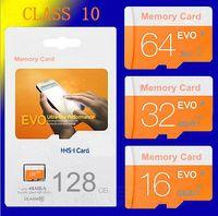 Wholesale Microsd Sdhc - EVO 128GB 64GB 32GB 16GB 8GB Micr SD Card MicroSD TF Memory Card C10 Flash SDHC SD Adapter SDXC Package FREE DHL