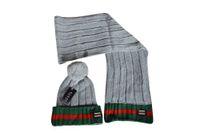 Wholesale cotton knit scarves - 2018 New Knitted Winter Hat Scarf Set Unisex Men Women Thick Cotton Beanies Scarf Female Knitted Winter Accessories Gift