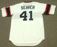 Custom Custom TOM SEAVER Chicago White Sox 1985 Majestic Cooperstown Home Baseball Jersey Retro Mens maglie