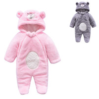 7490c03d95cf Newborns warm plush hooded onesie outfits baby cute bear ears plush winter  cotton quilted romper 3m-9m boys girls autumn winter outfits. Supplier   krtrading